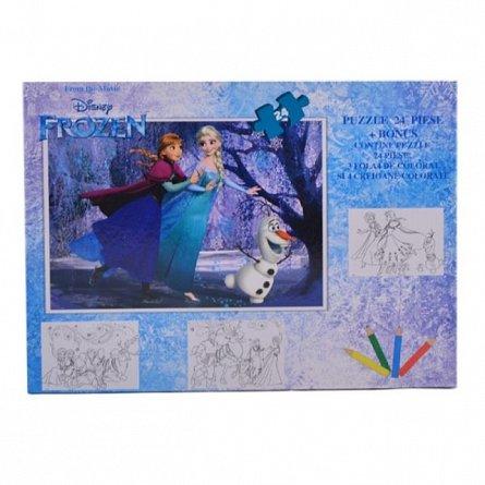 Puzzle 24pcs,coloriaj,Frozen