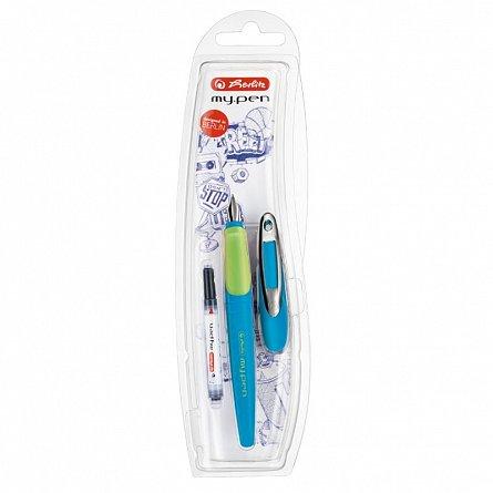 Stilou My.Pen,M,corp albastru/verde