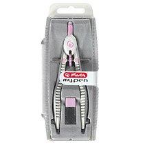 Compas My Pen, setare rapida, roz/turcoaz