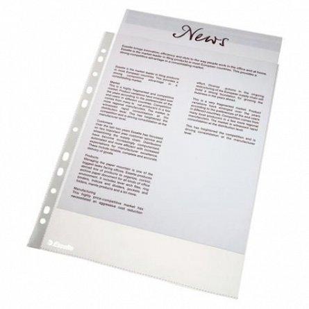 File plastic A4,40mc,standard,Esselte,25buc