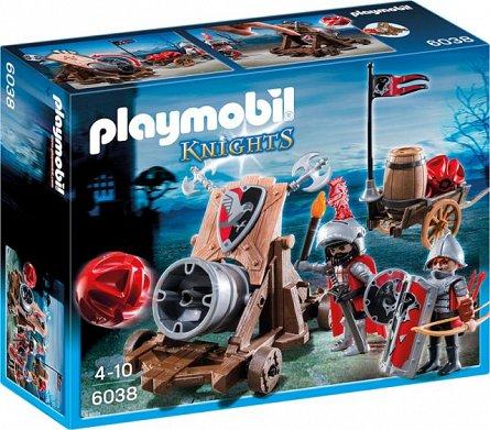 Playmobil-Cavaleri soim cu tun de batalie
