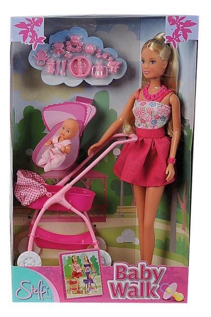 Papusa Steffi,cu bebe,cariucior,accesorii