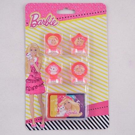 Stampile 4buc/set+tusiera,Barbie