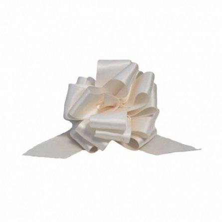 Funda pentru cadouri autoformare, satin, 2.5cm, alb