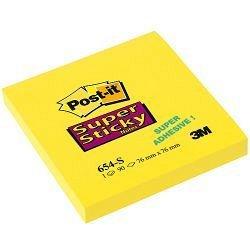 Notite adezive Post-it, 76 x 76 mm, 90 file, Super Sticky