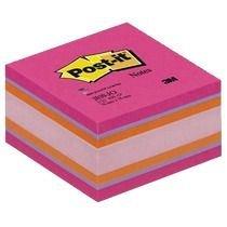 Cub notite adezive Post-it, 76 x 76 mm, 450 file, Joy fileul, neon