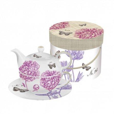 Tea 4 one Set GB Peonies & Butterflies