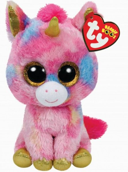 Plus TY Fantasia-Unicorn muticolor,15cm