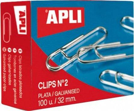 Agrafe Apli, 32 mm, zincate, 100 bucati/set