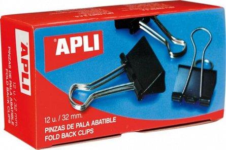 Clipsuri metal Apli,19mm,12buc/cutie,negre