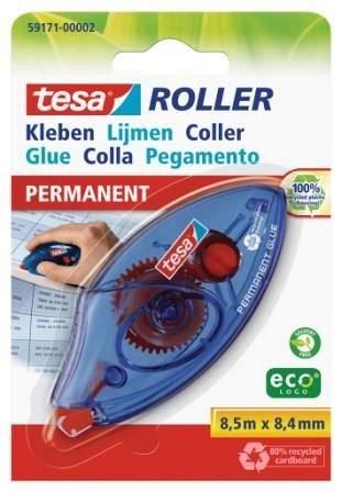 Roller adeziv Tesa, 8.4 mm x 8.5 m, permanent
