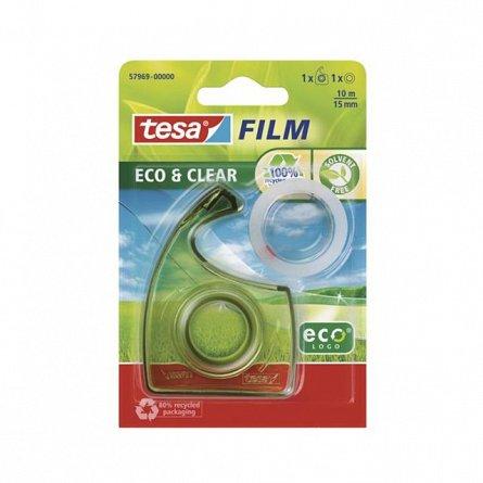 Banda adeziva 15mmx10m,Tesa,EcoLogo,clear