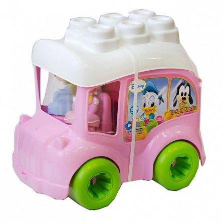 Autobuz minnie cu cuburi,13pcs,Clemmy