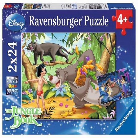 Puzzle Prietenii lui Mowgli,2x24pcs