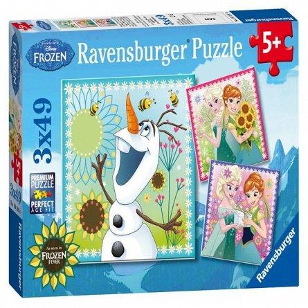 Puzzle Ravensburger - Frozen, 3x49 piese