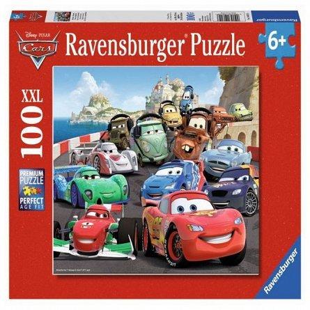 Puzzle Ravensburger - Cars, cursa de masini, 100 piese