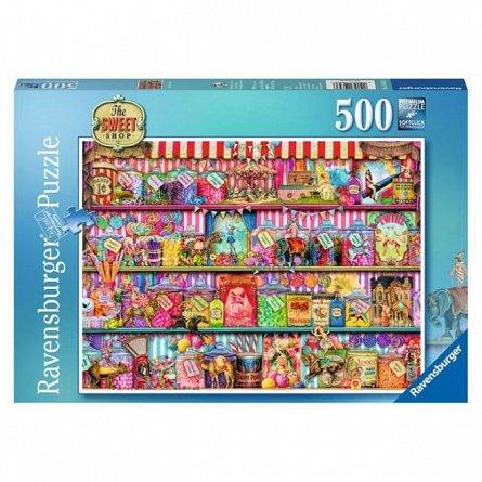 Puzzle Ravensburger - Magazinul de dulciuri, 500 piese