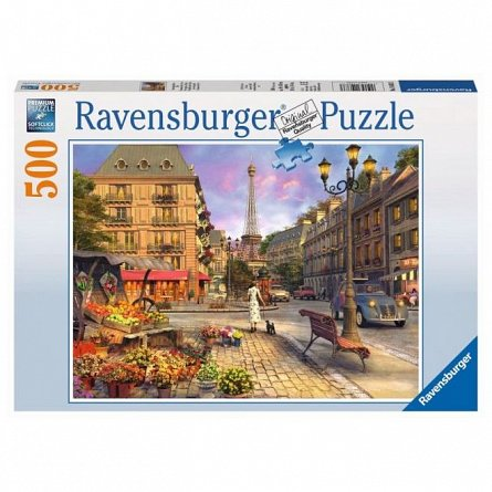 Puzzle Ravensburger - Plimbare de seara, 500 piese