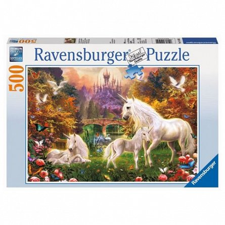 Puzzle Ravensburger - Unicorni, 500 piese
