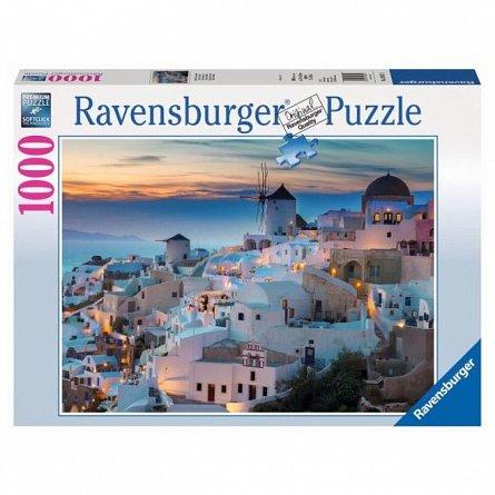 Puzzle Ravensburger - Noaptea in Santorini, 1000 piese