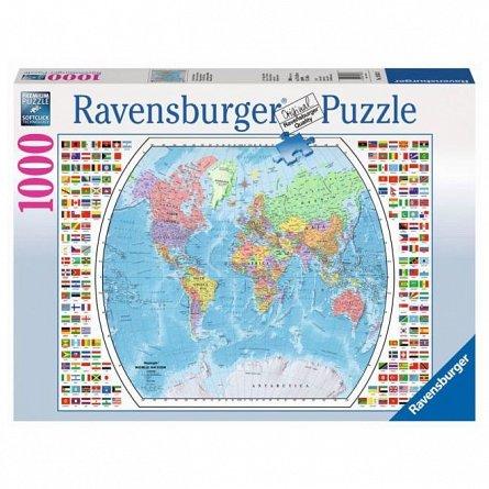 Puzzle Ravensburger - Harta politica a lumii, 1000 piese