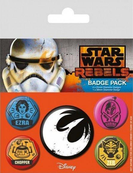 Set 5 insigne Star Wars Rebels (Rebels)