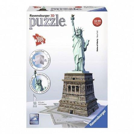 Puzzle 3D Ravensburger - Statuia Libertatii, 108 piese