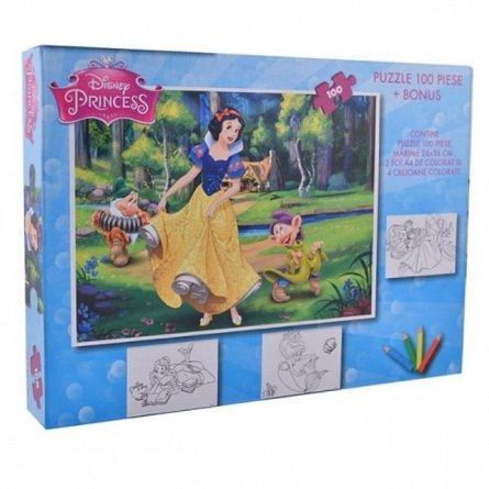 Puzzle 100pcs,coloriaj,Princess