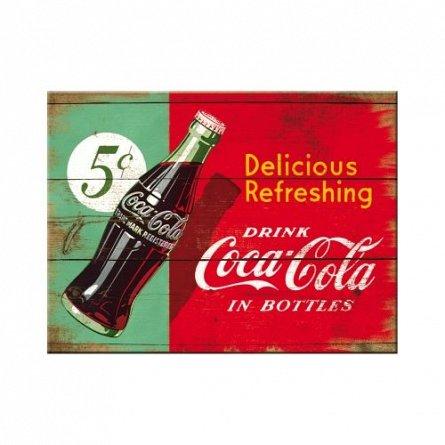 NA Magnet 14334 Coca-Cola Delicious Refreshing Green