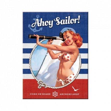 NA Magnet 14337 Pin-Up-Ahoy Sailor