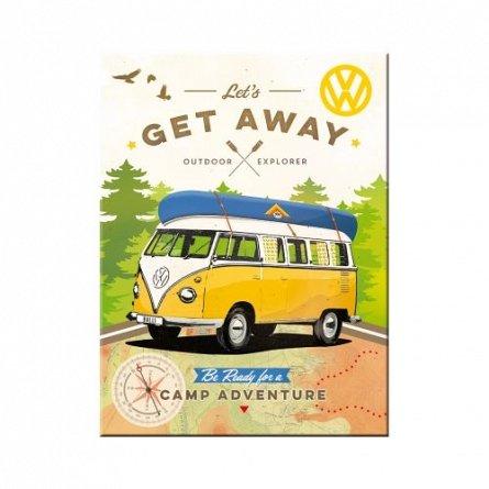 NA Magnet 14330 VW Bulli-Let's Get Away