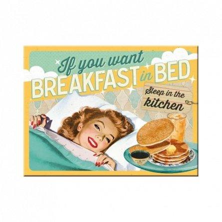 NA Magnet 14339 Breakfast in Bed