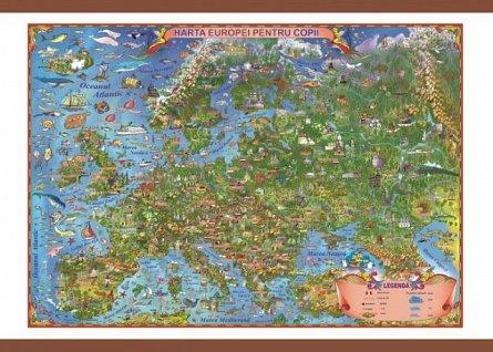 Harta Europei pentru copii,50/70cm