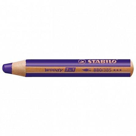 Creion colorat,3in1,Stabilo Woody,violet