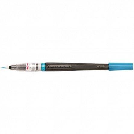 Pensula cu cerneala Pentel,bleu