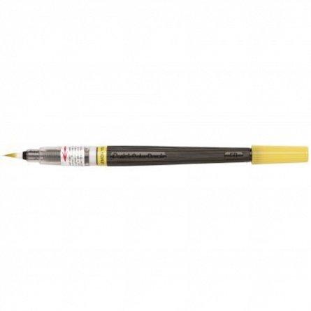 Pensula cu cerneala Pentel,galben