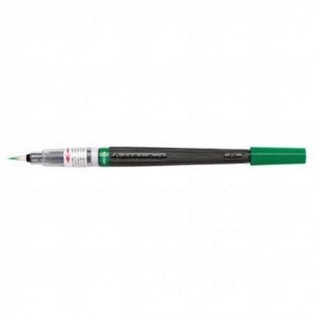 Pensula cu cerneala Pentel,verde