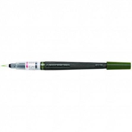 Pensula cu cerneala Pentel,verde inchis