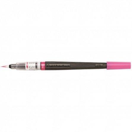 Pensula cu cerneala Pentel,roz