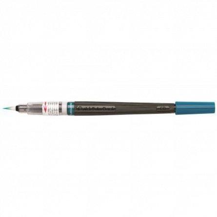 Pensula cu cerneala Pentel,turquoise