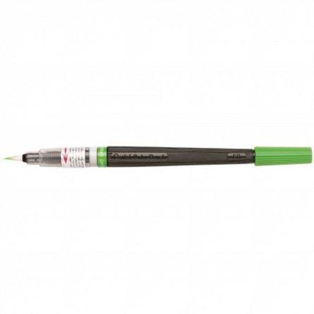 Pensula cu cerneala Pentel,verde deschis
