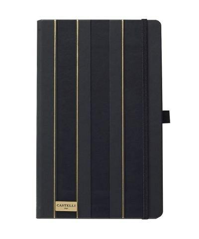 Agenda 13x21 cm, 120 file, Stripes Black&Gold, dictando