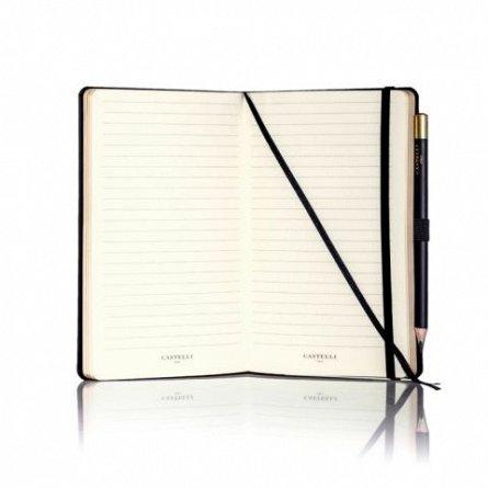 Agenda 13x21 cm, 120 file, Honeycomb, Black&Gold, dictando