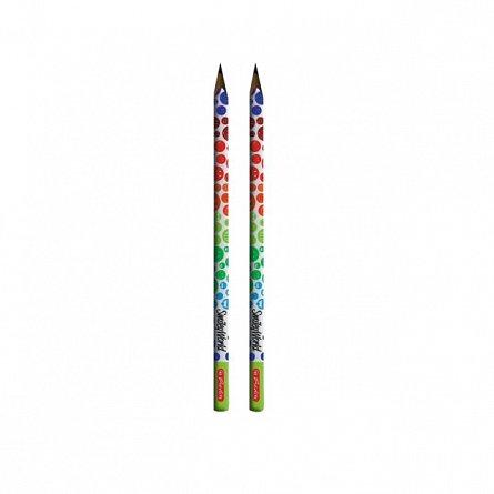 Creion HB,2buc/set,SmileyWorld Rainbow