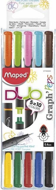 Liner Maped Graph'Peps,duo,5buc/set