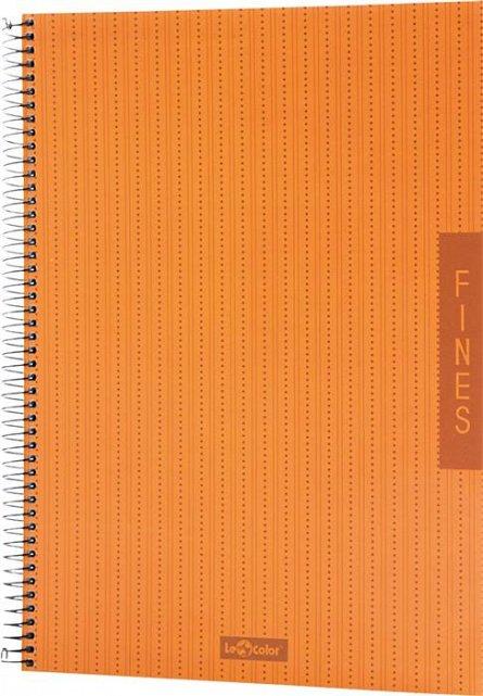 Caiet cu spira,A4,100f,Lecolor Fines,portocaliu