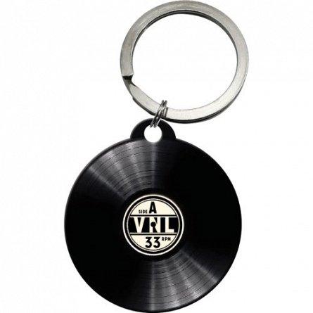 NA Breloc rotund 48014 Retro Vinyl