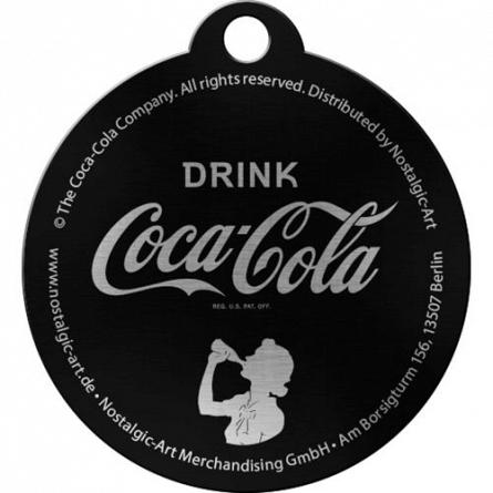 NA Breloc rotund 48011 Coca-Cola Logo Red Crown Cap