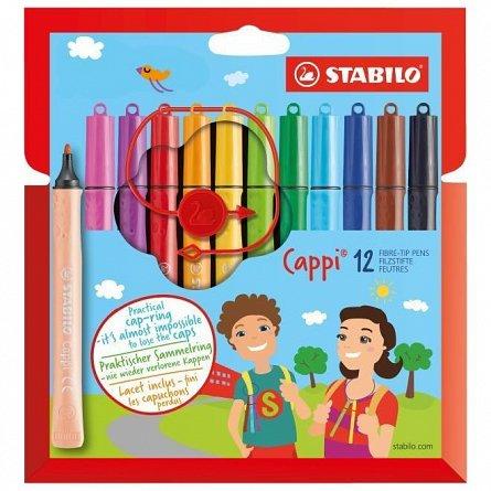 Markere pt copii,12b/s,Stabilo Cappi