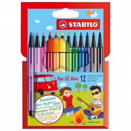 Marker Stabilo Pen 68,Mini,12buc/set